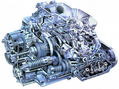 GL1200 Engine Cutaway Diagram